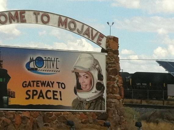 Mojave desert sign