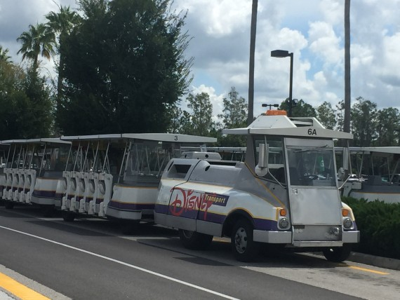 Disney parking lot tram