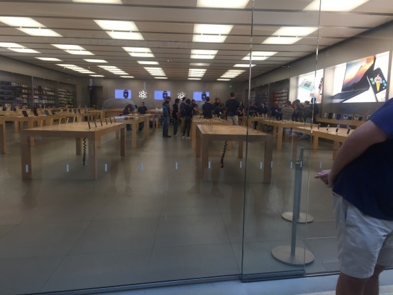 Apple Store pre-opening staff meeting