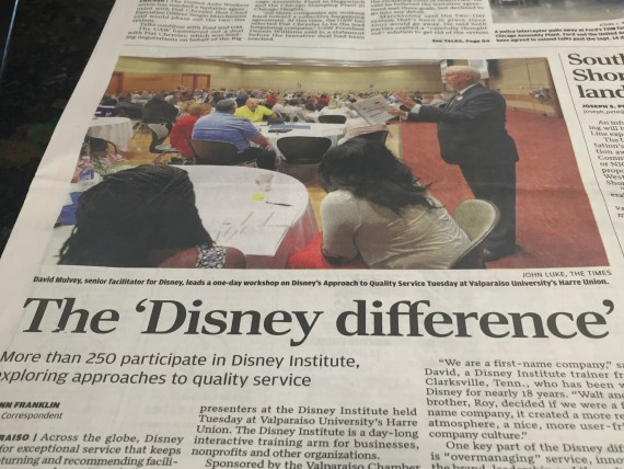 The Disney Difference newspaper article