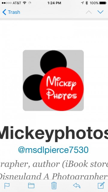 Twitter Mickey Mouse logo