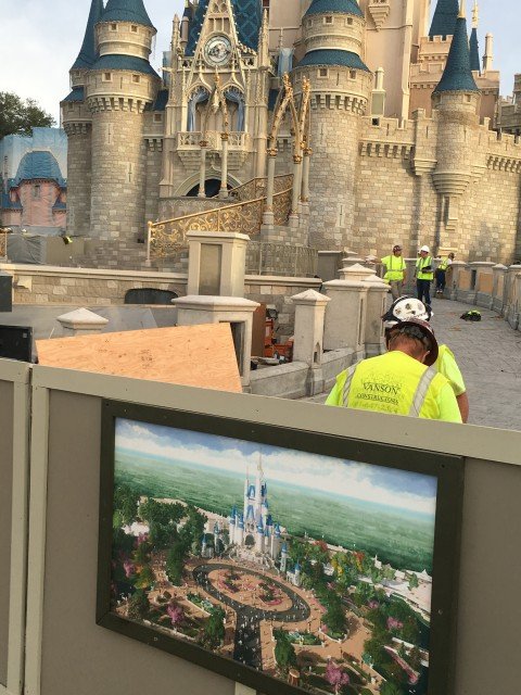 Magic Kingdom Castle improvements 2015