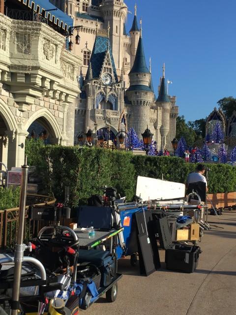 Disney World Christmas parade filming
