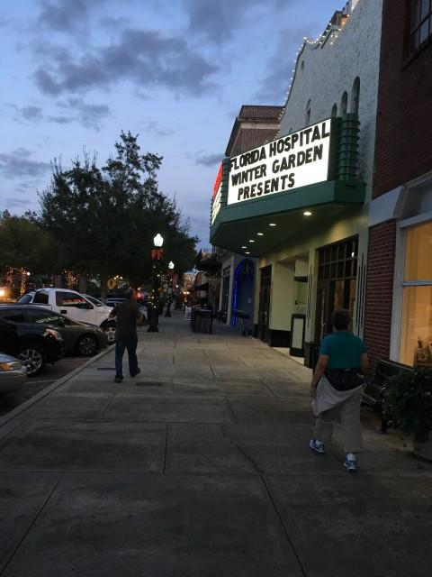 Winter Garden Theater at dusk