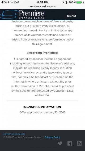 Speakers Bureau Contract sample