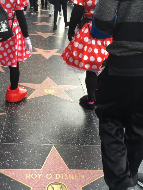 Fake Disney Characters on Hollywood Blvd