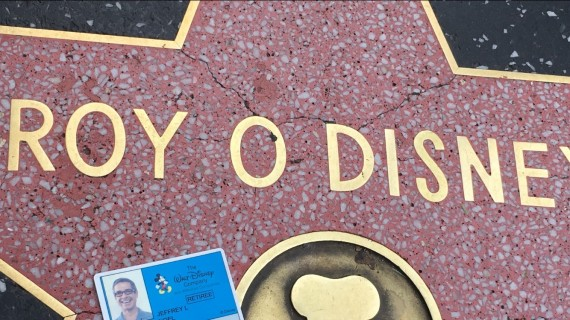 Roy O Disney Hollywood star