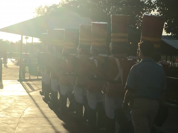 Disney's Toy Soldiers marching at Christmas