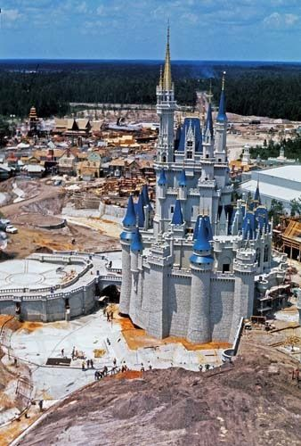 Cinderella Castle under construction