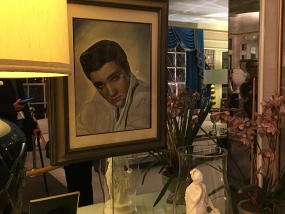 Elvis portrait in his living room