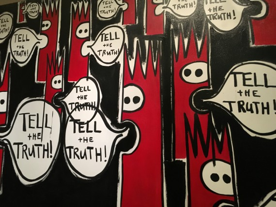 Tell the truth painting