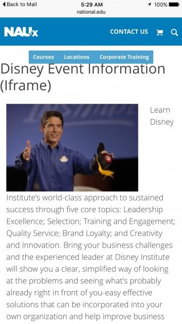 Disney Institute off site programs