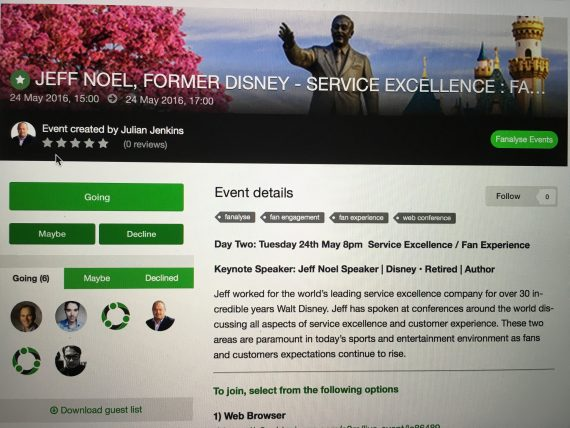 Disney Business Advisor jeff noel