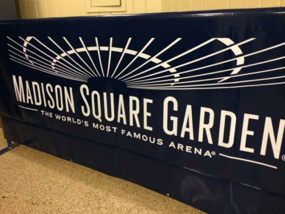 Madison Square garden Theater sign