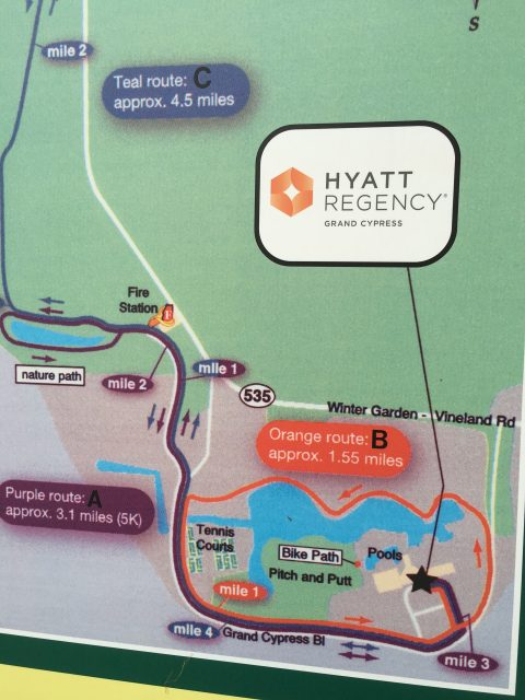 Hyatt Regency jogging map