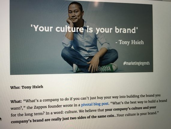 Tony Hsieh quote on culture