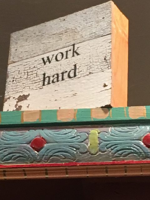 work hard sign