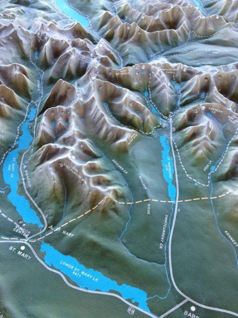 Glacier Park ariel view