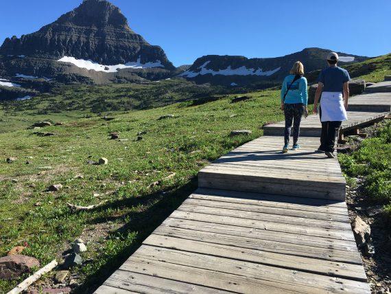 Glacier easy trails