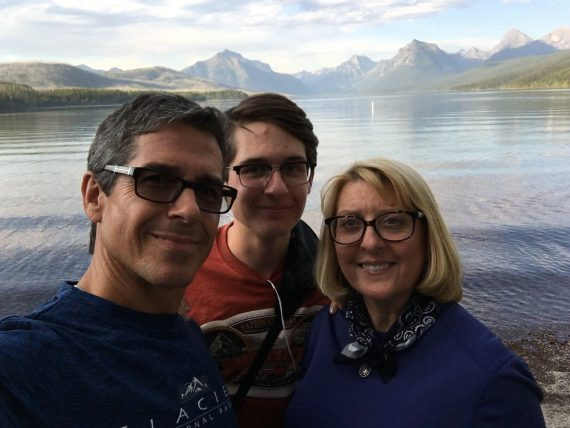 Family at Lake McDonald