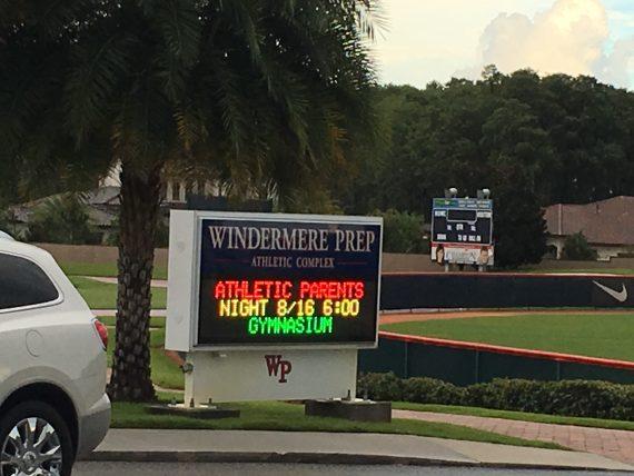 High school info board