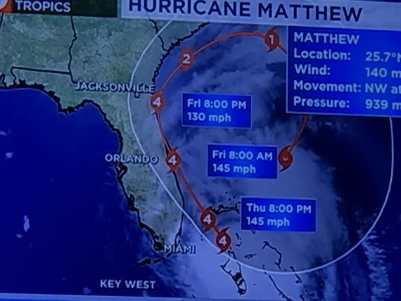 Hurricane Matthew map