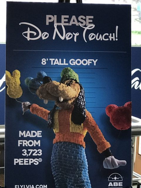 Goofy made of Peeps