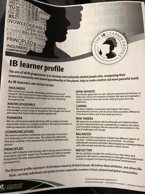 IB High School diploma