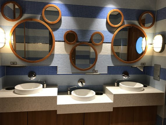 Disney Cruiseline bathroom mirrors