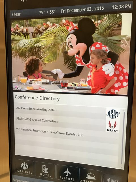 Disney conference center event board
