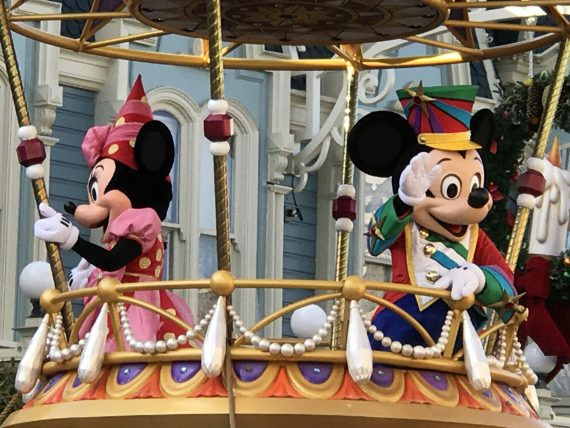 Mickey and Minnie Mouse on Parade float