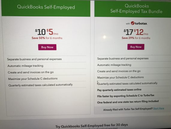 Quick books turbo tax combo