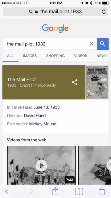 Disney's The Mail Pilot