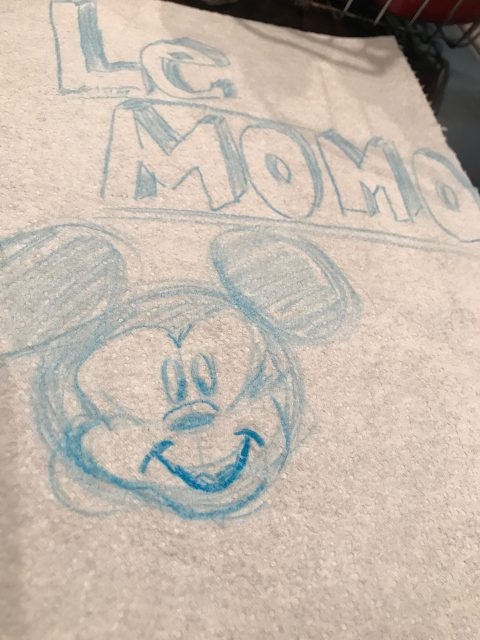 Mickey Mouse hand drawn