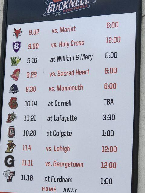 Bucknell University 2017 football schedule