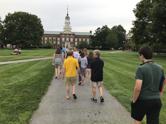 Bucknell campus tour in Summer