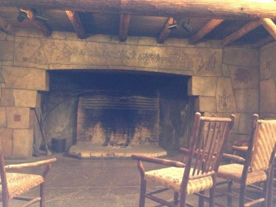 Lake McDonald Lodge fireplace