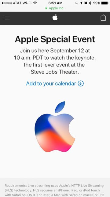 Apple Keynote event iPhone X
