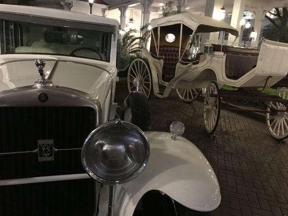Disney's Grand Floridian vintage vehicles