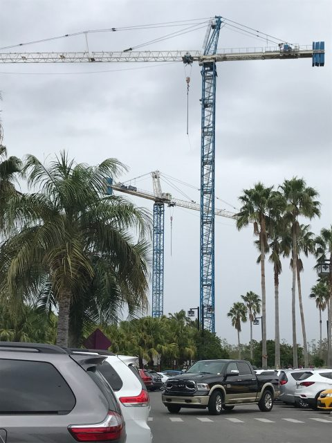 Disney World Construction cranes