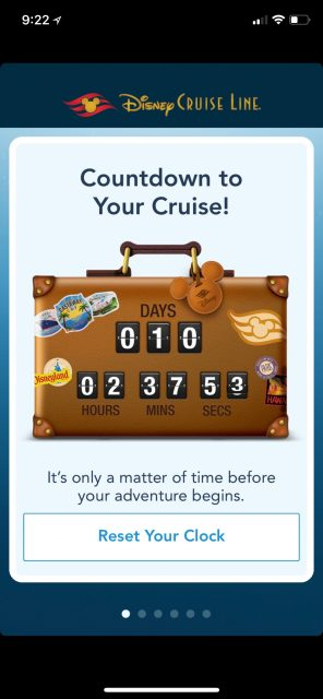 Disney Cruise Line countdown app