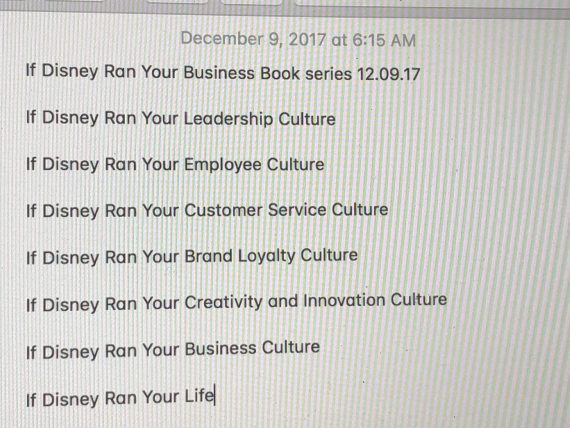 Disney Business Book author