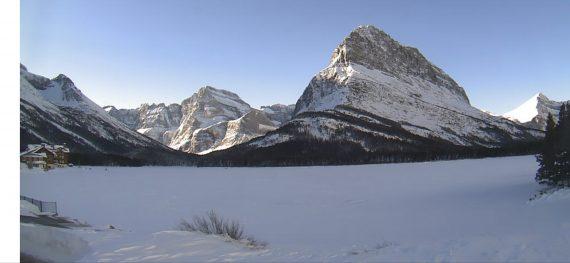 Many Glacier Valley in winter