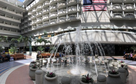 Orlando Airport indoor fountain