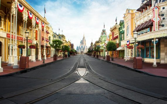 Magic Kingdom Main Street empty