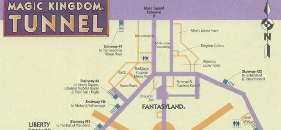 magic Kingdom Tunnel map