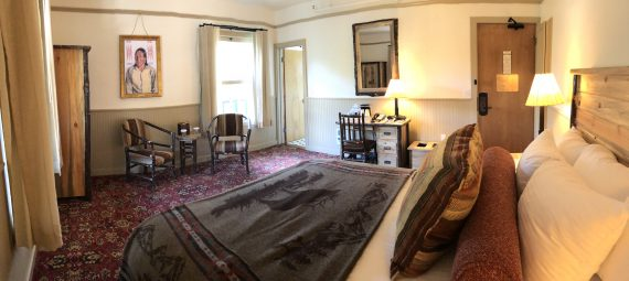 Lake McDonald Lodge deluxe lodge room