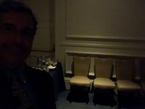 backstage before speech