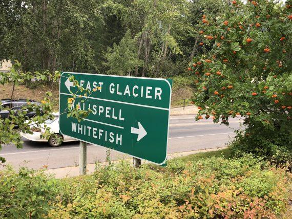 West Glacier road signs