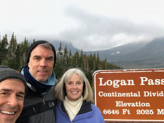 Logan Pass sign